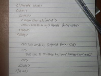 code by hand